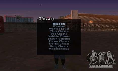 Cheat Menu para GTA San Andreas