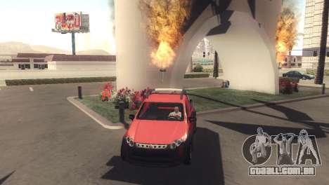 Fiat Strada Locker 2013 para GTA San Andreas esquerda vista