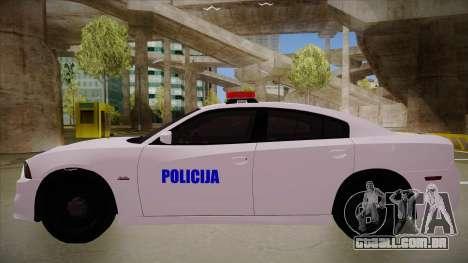 Dodge Charger SRT8 Policija para GTA San Andreas traseira esquerda vista