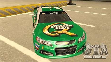 Chevrolet SS NASCAR No. 5 Quaker State para GTA San Andreas esquerda vista