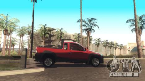 Fiat Strada Locker 2013 para GTA San Andreas vista traseira