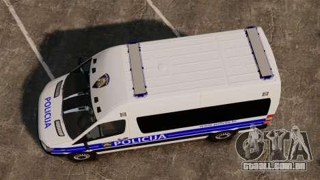 Mercedes-Benz Sprinter Croatian Police [ELS] para GTA 4 vista direita