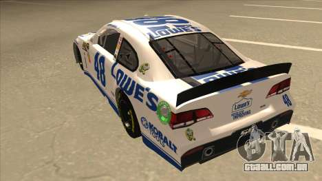 Chevrolet SS NASCAR No. 48 Lowes white para GTA San Andreas vista traseira