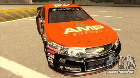 Chevrolet SS NASCAR No. 88 Amp Energy para GTA San Andreas esquerda vista