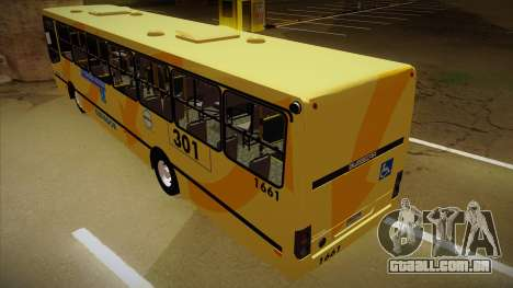 Busscar Urbanuss Ecoss MB OF 1722 M BHBUS para GTA San Andreas vista traseira