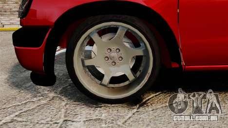 Nissan Frontier D22 para GTA 4 vista de volta