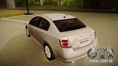 Nissan Sentra S 2008 para GTA San Andreas vista traseira