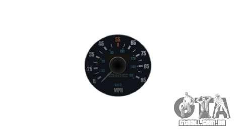 Velocímetro DeLorean DMC-12 para GTA 4