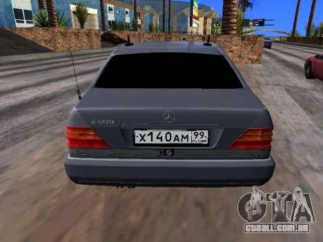 Mercedes-Benz S600 W140 para GTA San Andreas vista traseira
