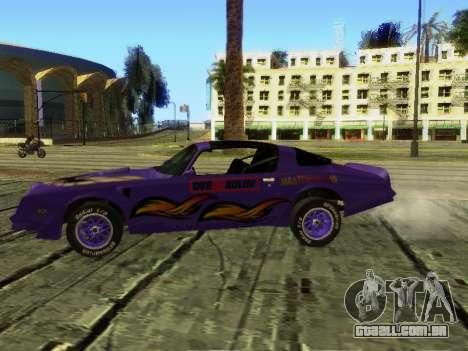 Pontiac Firebird Overhaulin para GTA San Andreas vista traseira