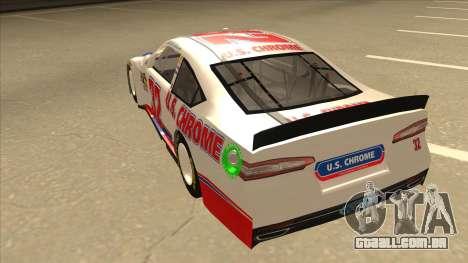 Ford Fusion NASCAR No. 32 U.S. Chrome para GTA San Andreas vista traseira