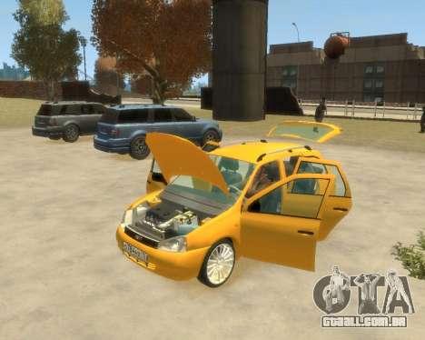 Lada Kalina Hatchback para GTA 4 traseira esquerda vista