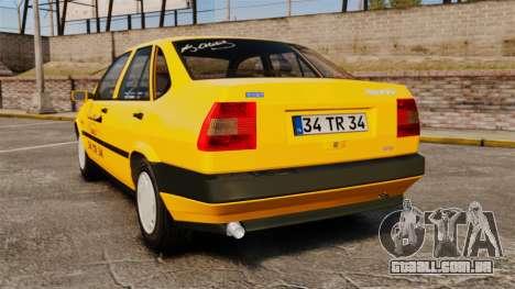 Fiat Tempra SX.A Turkish Taxi para GTA 4 traseira esquerda vista