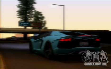 Lamborghini Aventador LP700-4 Vossen V2.0 Final para GTA San Andreas vista interior