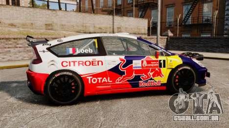 Citroen C4 WRC para GTA 4 esquerda vista