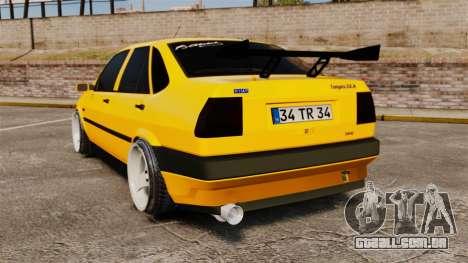 Fiat Tempra TR KeremAkca Edit para GTA 4 traseira esquerda vista