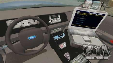 Ford Crown Victoria Virginia State Police [ELS] para GTA 4 vista de volta