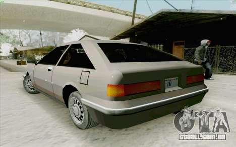 Manana Hatchback para GTA San Andreas vista direita