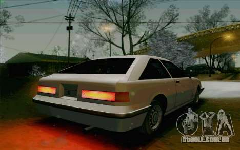 Manana Hatchback para GTA San Andreas vista traseira
