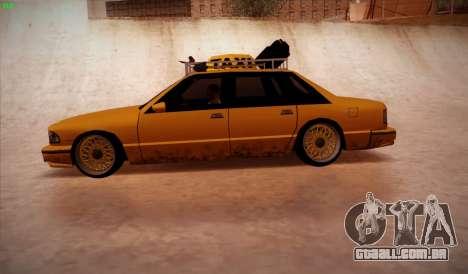 New taxi para GTA San Andreas esquerda vista