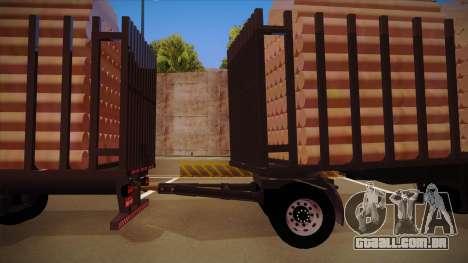 Caminhão semi-reboque madeira para frente de tre para GTA San Andreas esquerda vista