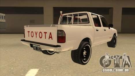 Toyota Hilux 2004 para GTA San Andreas vista direita