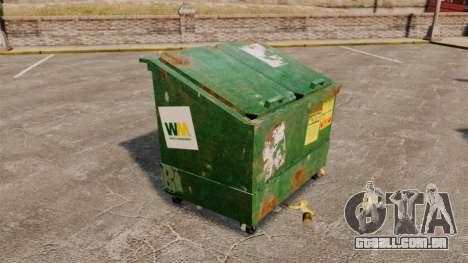 Caixotes do lixo, desperdício Management Inc. para GTA 4 terceira tela