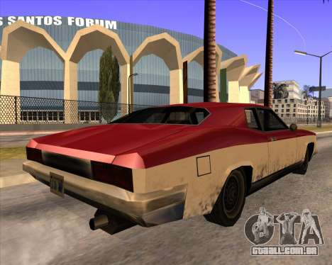 Buccaneer para GTA San Andreas esquerda vista