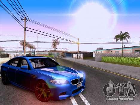 BMW M5 F10 2012 Autovista para GTA San Andreas traseira esquerda vista