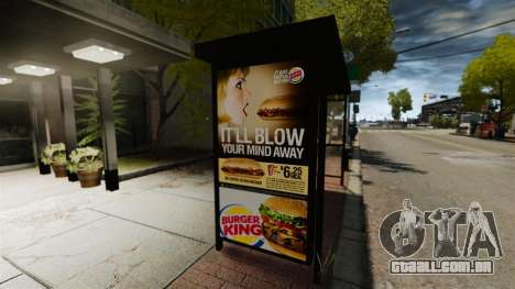 Nova publicidade nas paragens de autocarro para GTA 4 segundo screenshot