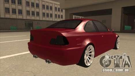 BMW M3 Tuned para GTA San Andreas vista direita