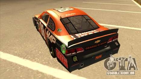 Chevrolet SS NASCAR No. 88 Amp Energy para GTA San Andreas vista traseira