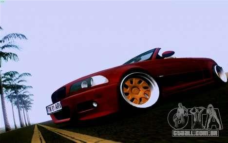 BMW M3 Cabrio para GTA San Andreas traseira esquerda vista