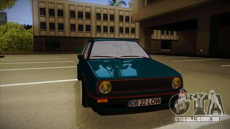 Volkswagen Golf MK2 Stance Nation by Razvan11 para GTA San Andreas esquerda vista