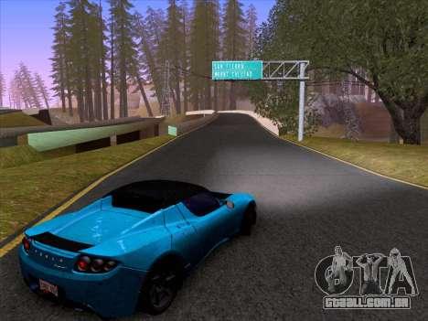 Tesla Roadster Sport 2011 para GTA San Andreas vista interior