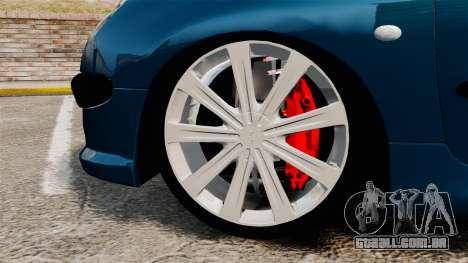 Peugeot 206 para GTA 4 vista de volta
