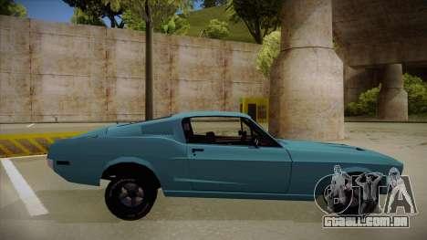 Ford Mustang para GTA San Andreas traseira esquerda vista