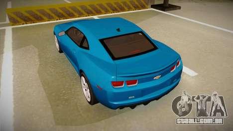 Chevrolet Camaro para GTA San Andreas vista direita