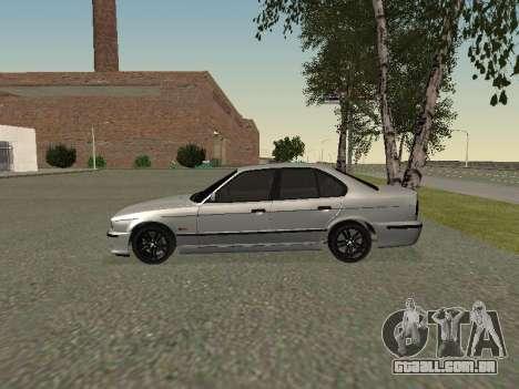 BMW 525I para GTA San Andreas traseira esquerda vista