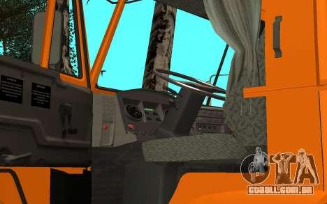 KAMAZ 6520 cimento para GTA San Andreas vista traseira