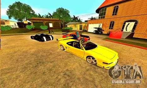 Infernus Cabrio Edition para GTA San Andreas traseira esquerda vista