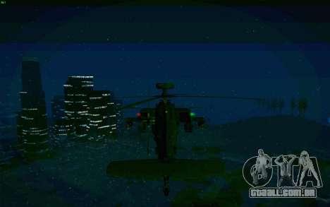 AH-64 Apache para GTA San Andreas vista traseira