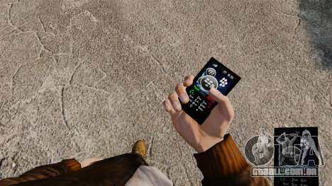 Temas para as redes móveis de marcas de telefone para GTA 4 terceira tela
