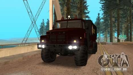 Caminhão escola de condução v. 2.0 para GTA San Andreas vista traseira