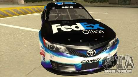 Toyota Camry NASCAR No. 11 FedEx Office para GTA San Andreas esquerda vista