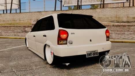 Volkswagen Gol G4 BBS para GTA 4 traseira esquerda vista