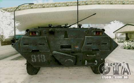 BTR-80 para GTA San Andreas vista interior