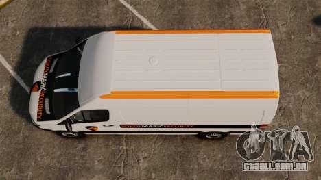Mercedes-Benz Sprinter Sokol Maric Security para GTA 4 vista direita