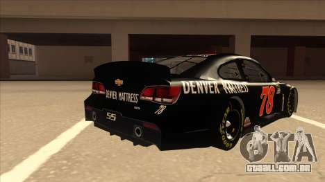 Chevrolet SS NASCAR No. 78 Furniture Row para GTA San Andreas vista direita