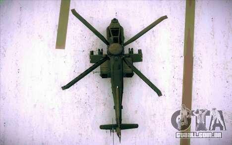 AH-64 Apache para GTA San Andreas vista direita